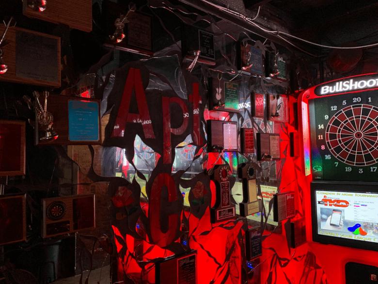 Inside Apt. C, a longstanding bar in deep East Oakland.