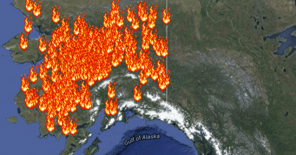 A firefighter on the left side of the photo points at a map posted on a. Interactive Wildfires Map Tracks The Blazes In The U S Climate Central