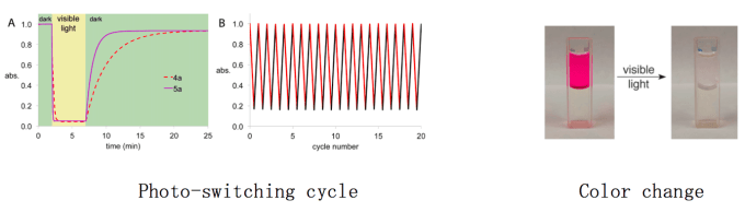 图4 DASA由可见光和室温即可驱动光反应