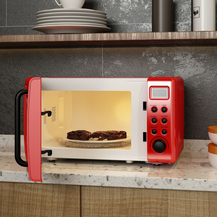 https m costway com 700w retro countertop microwave oven with 5 micro power and auto cooking function html