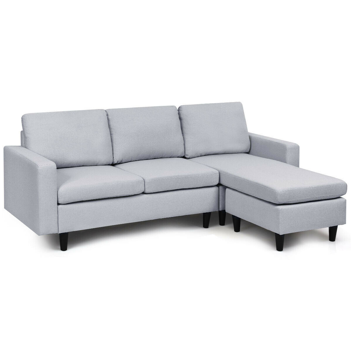 convertible sectional l shaped couch with reversible chaise