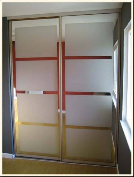 spray frosted closet doors