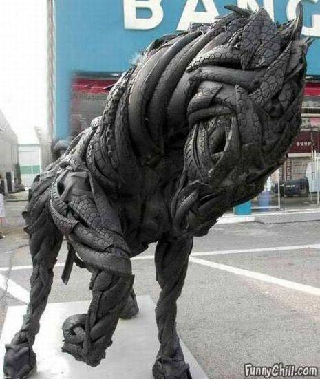 Tire sculpture