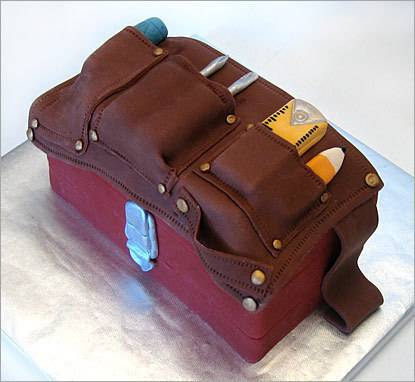 Tool Belt Groom's Cake - The Sugar Syndicate Chicago