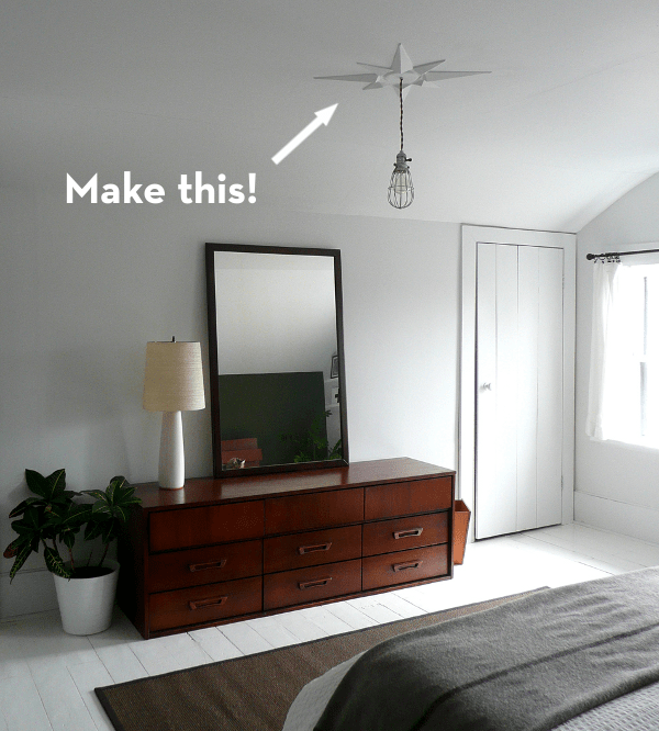 Make Your Own MCM Inspired Ceiling Medallion Curbly