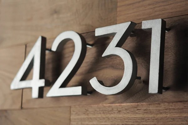 77955f4ff988 Modern House Numbers - How To Make Your Own (For Less!)