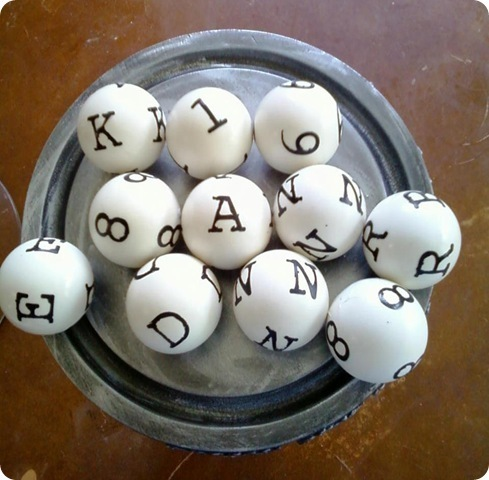 Letter and Number Spheres
