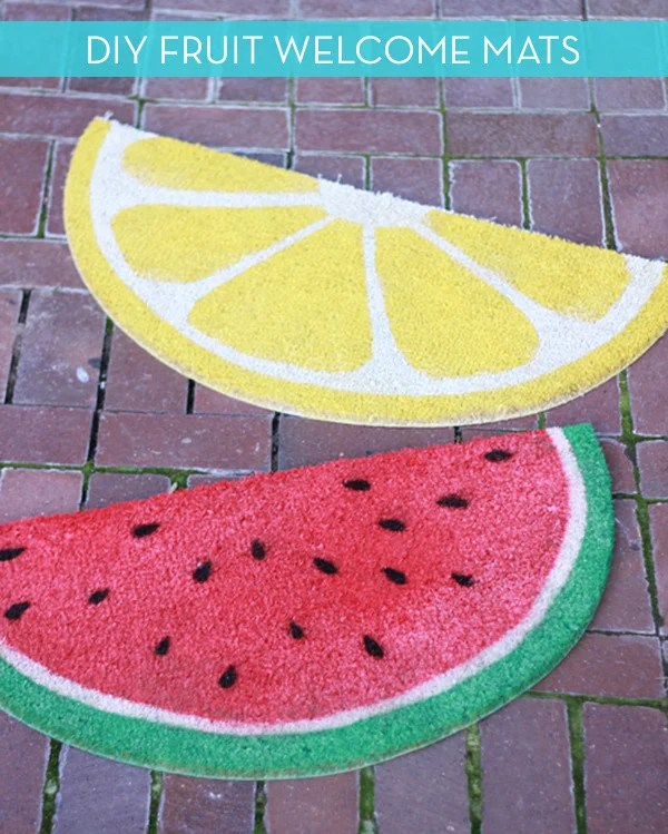 DIY Fruit Welcome Mat
