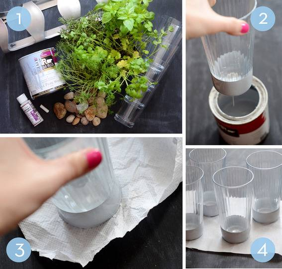 how to make an indoor herb garden planter from an IKEA wine rack