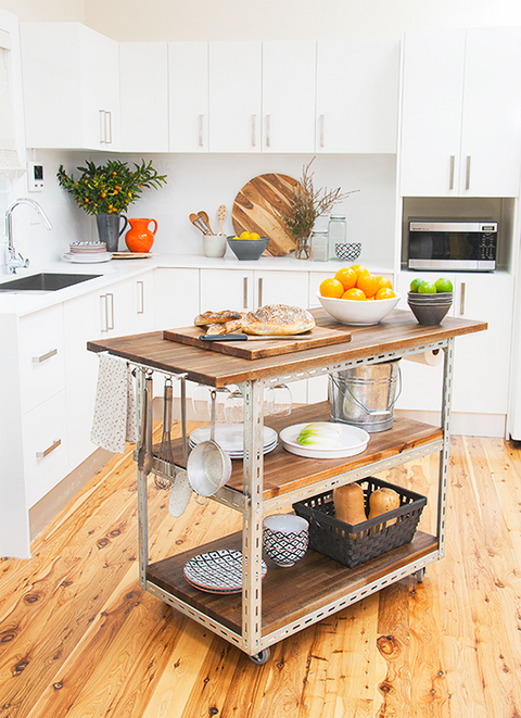 Make It DIY Industrial Kitchen Island Curbly DIY