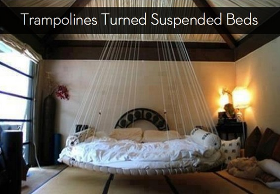 How To Turn Old Trampolines Into New Suspended Beds
