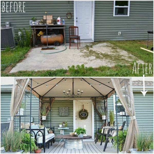 Before and After: A Stylish and Thrifty Back Patio ... on Backyard Patio Makeover id=88462