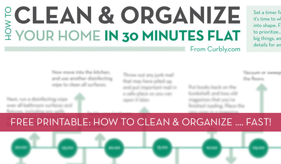 Free printable: how to clean and organize your home fast.