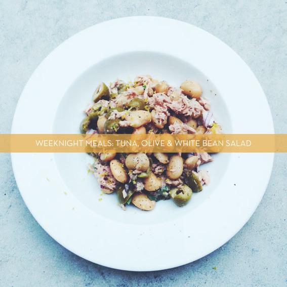 Tuna, Olive & White Bean Salad
