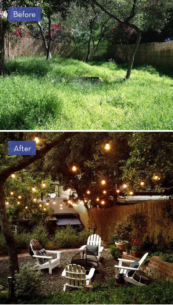 8 Amazing Backyard Makeovers that are Perfect for ... on Backyard Patio Makeover id=53837