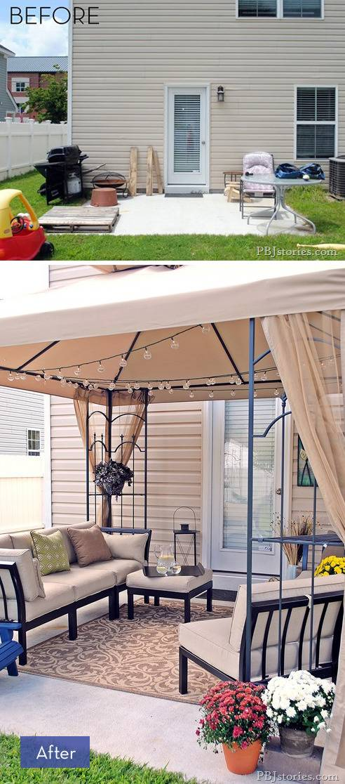 8 Amazing Backyard Makeovers that are Perfect for ... on Backyard Patio Makeover id=35991