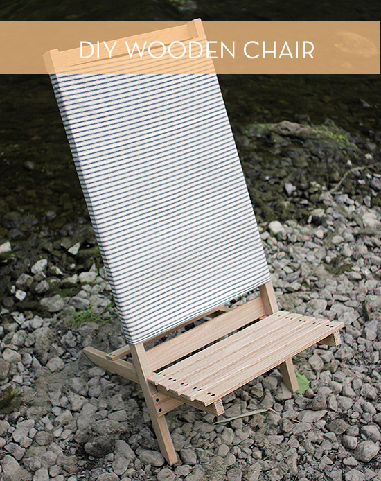 DIY wooden camp chair