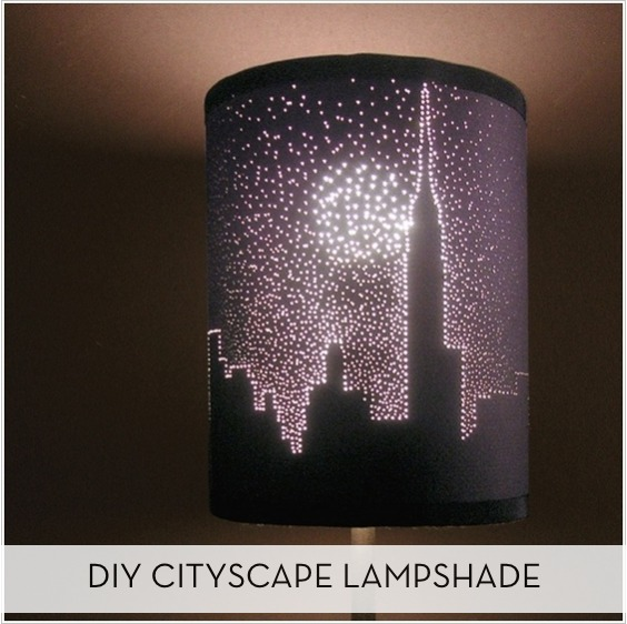 DIY Starry Night Cityscape Lampshade Curbly DIY Design