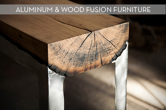 aluminum & wood fusion furniture