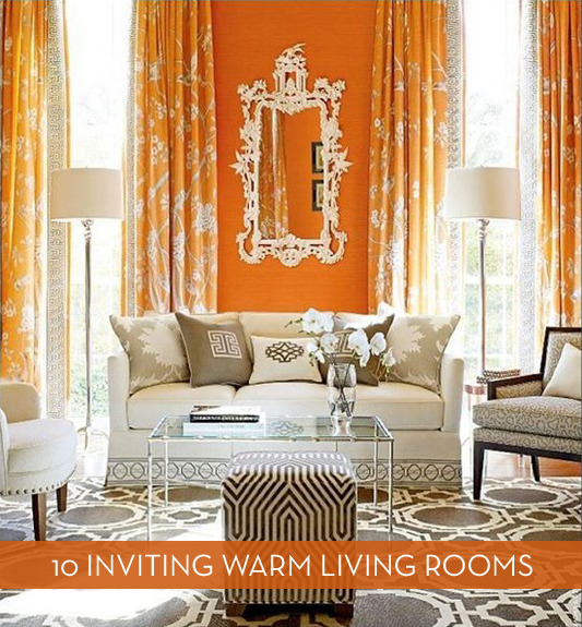 Eye Candy: 10 Gorgeous Fall-Inspired Warm Living Rooms