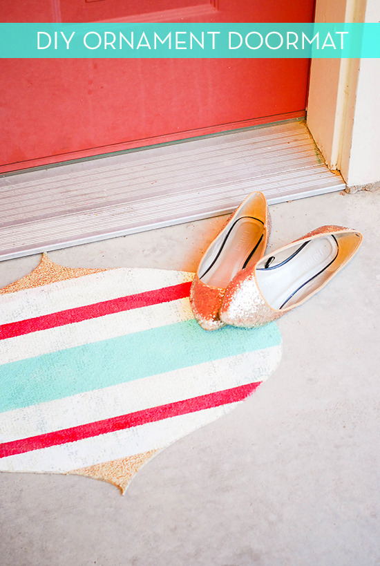 DIY Ornament Doormat