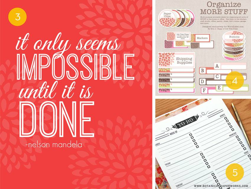 10 Printables For Your Office or Workspace