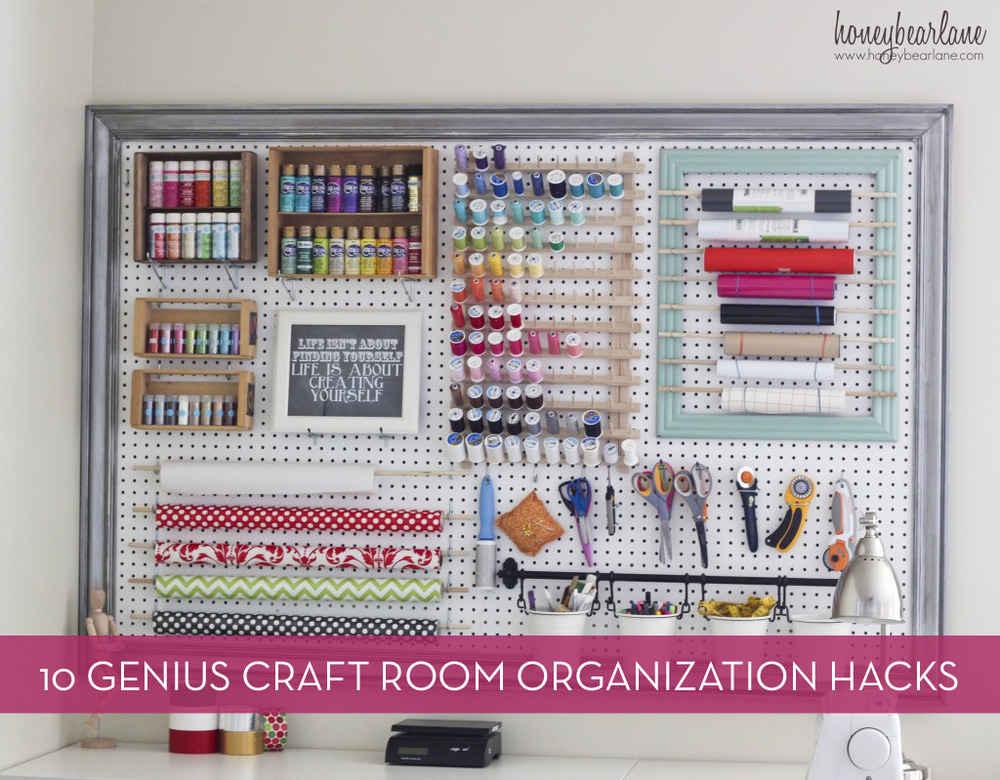 10 Clever Organization Hacks For Your Craft Room
