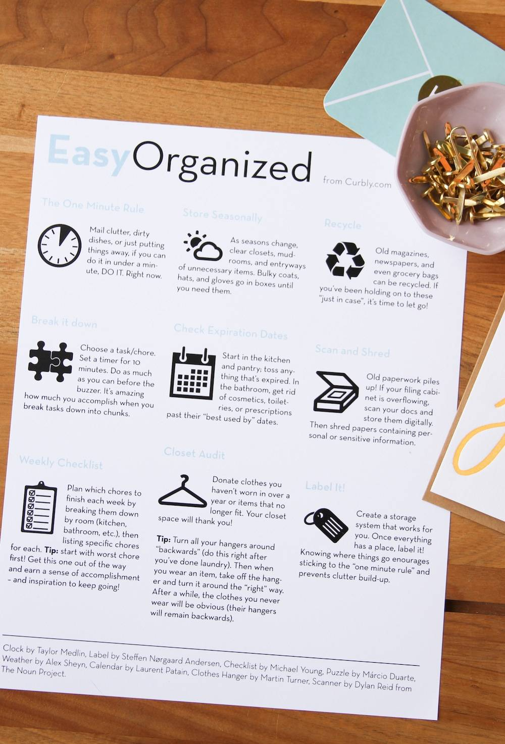 Download our FREE Home Organization Cheat Sheet!