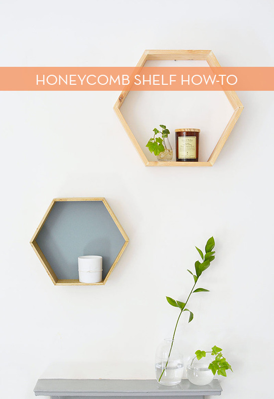 diy honeycomb shelf