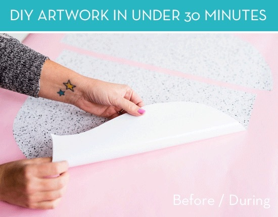 DIY Modern wall art in under 30 minutes