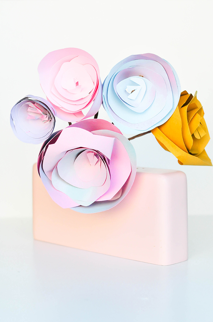 How to make paper roses | paper flowers tutorial