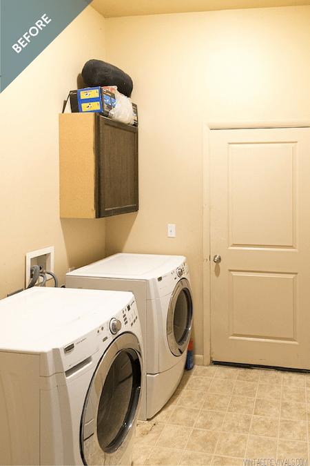 Vintage Revival Laundry Room Before