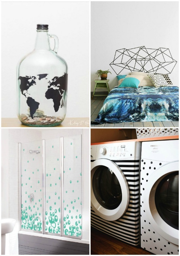 creative ideas for using vinyl decals in the home