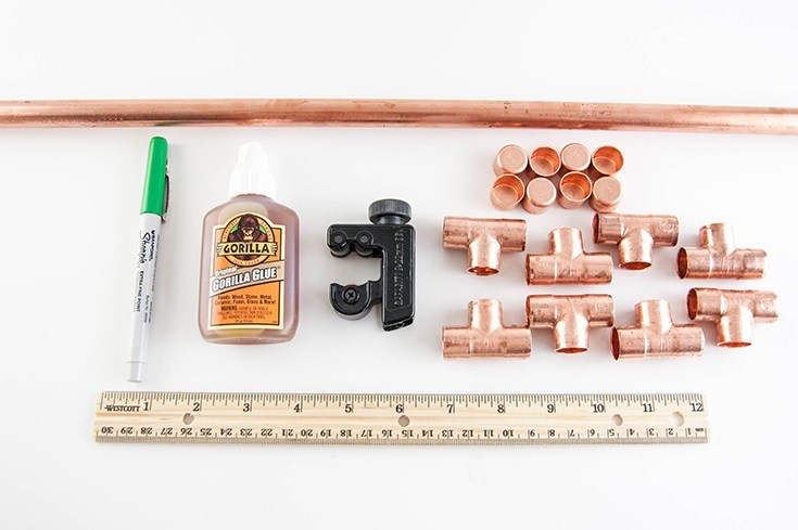 simple diy copper plant stand