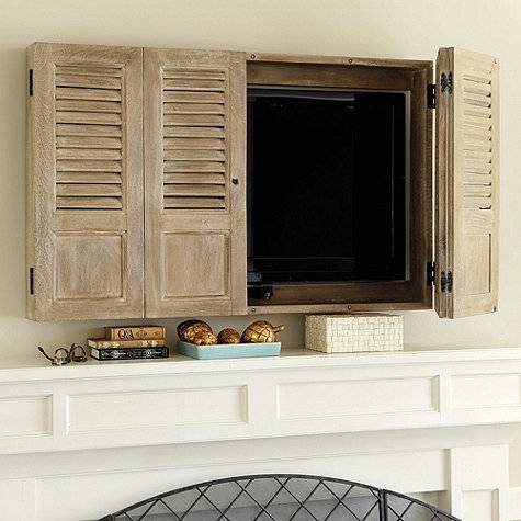 clever ideas for hidden wall mounted televisions