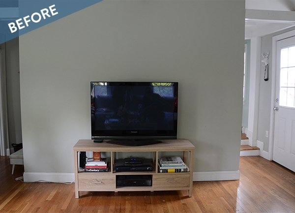 Before and After: A Reclaimed Wood Accent Wall
