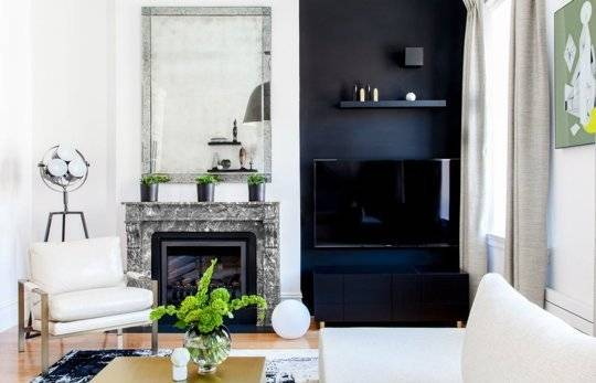 Camouflaging a TV on a black wall