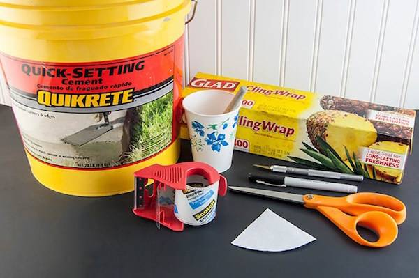 DIY concrete ring holders supplies