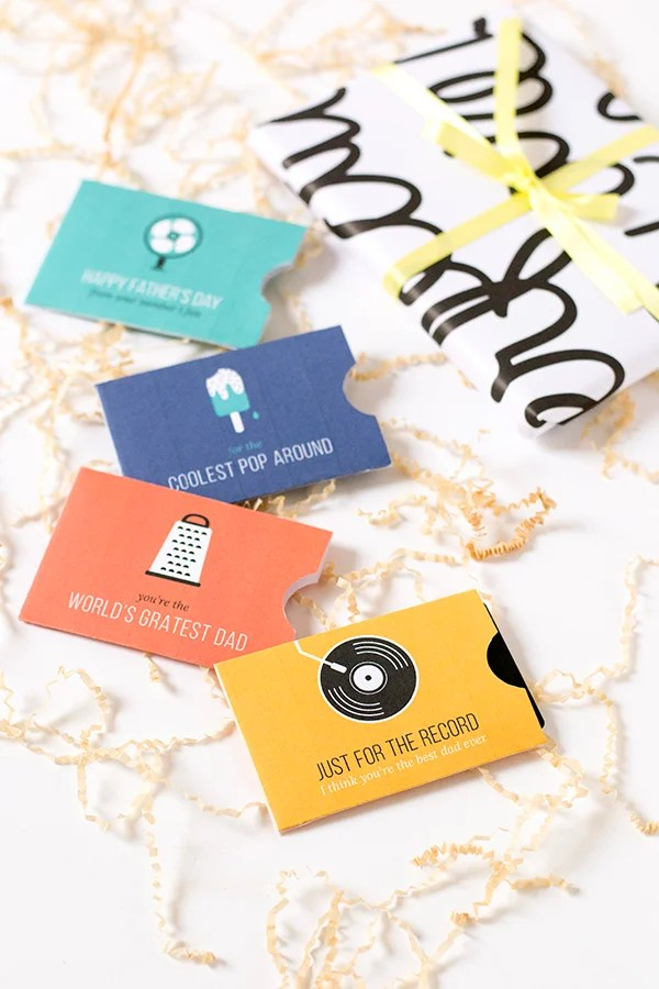 Printable Gift Card Holders for Father's Day