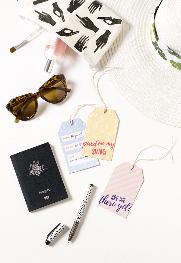 Printable cheeky luggage tags
