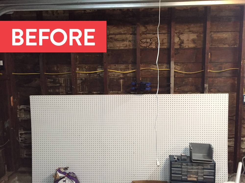 Before: pegboard, no tools