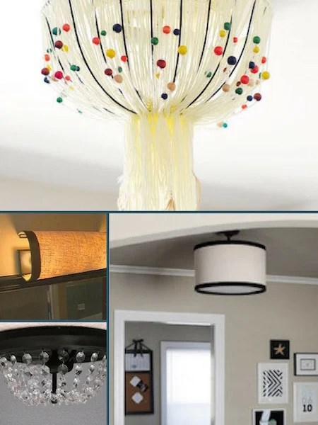 ceiling light covers that are easy to DIY