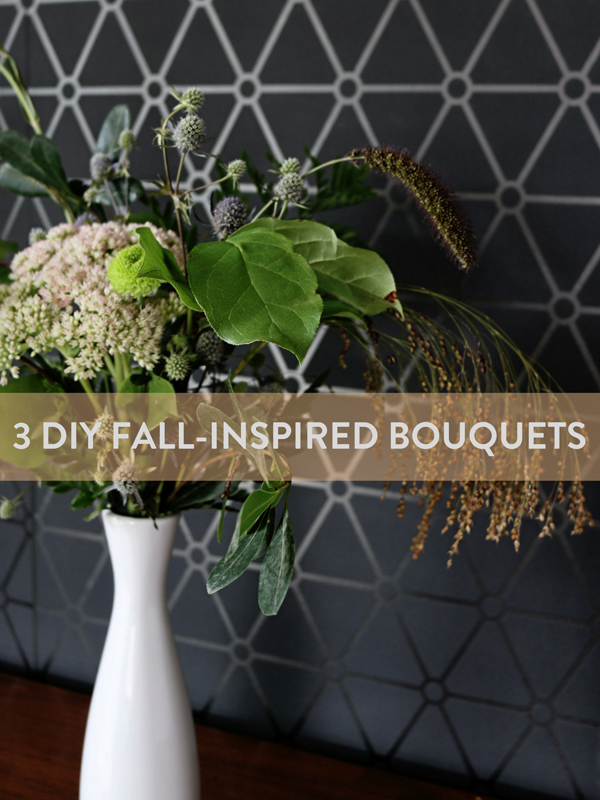 3 DIY Fall-Inspired Bouquets Using the same Materials
