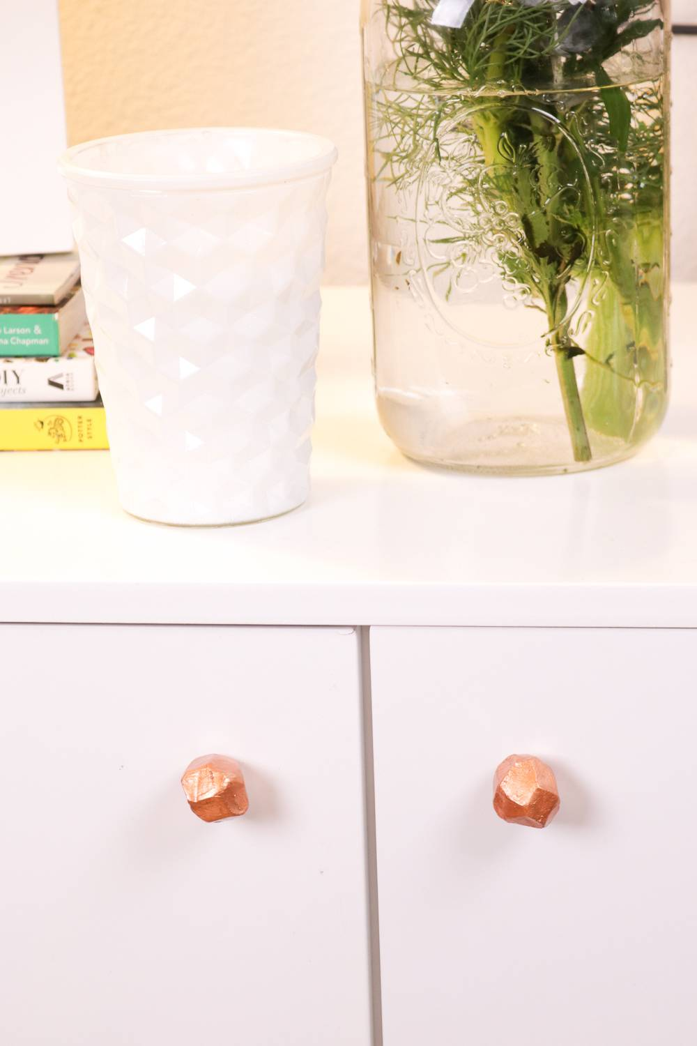 DIY Clay Faceted Drawer Handles