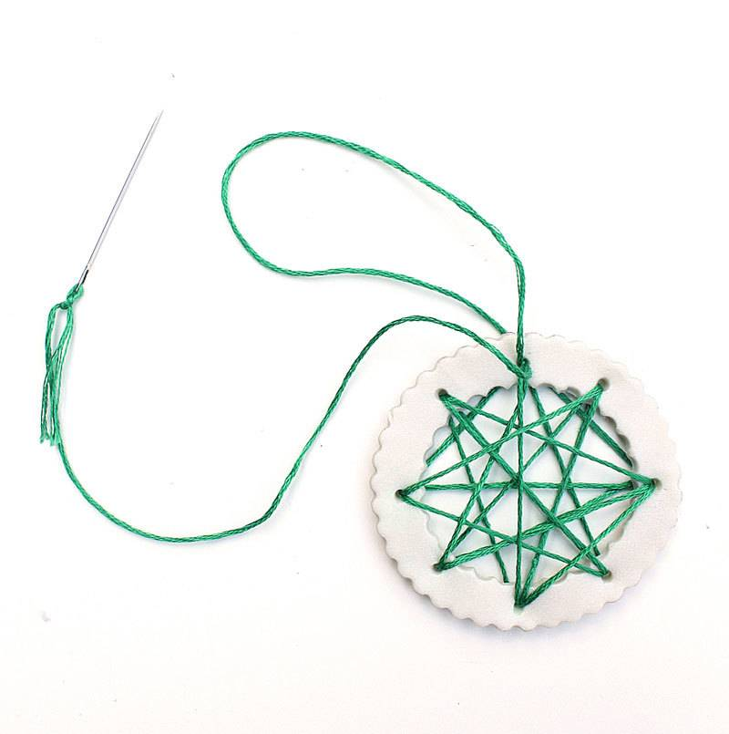 Polymer clay and string do-it-yourself ornaments