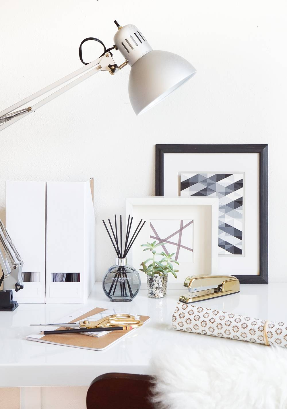 Reed Diffuser in Office Setting