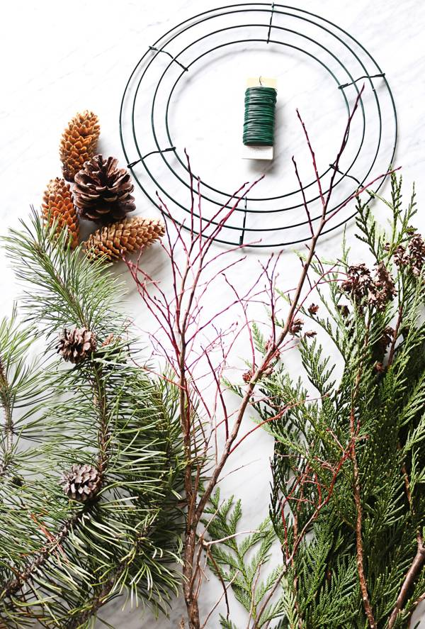 How To: Make a Found and Foraged Scandinavian  Christmas Wreath on the Cheap