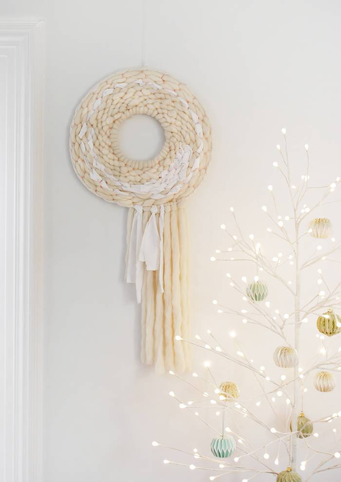 A Round Woven Wreath To Admire During & After The Holidays