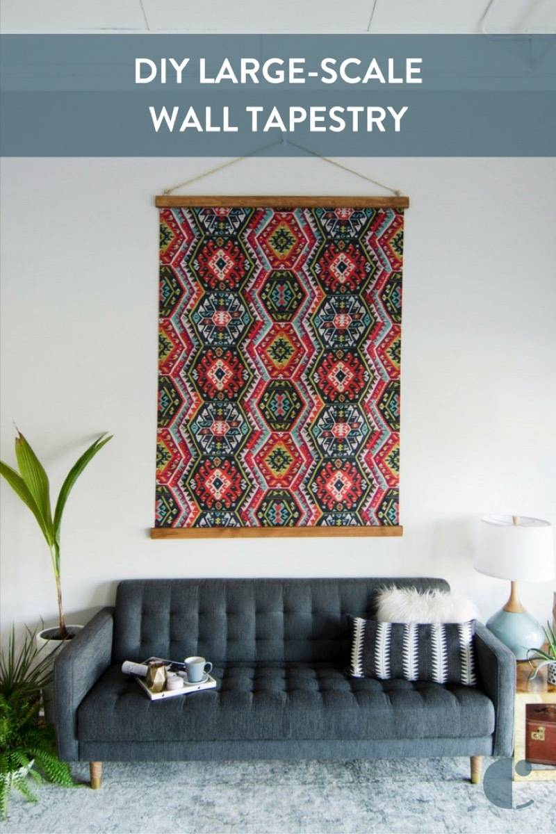 DIY Large-Scale Tapestry Wall Art