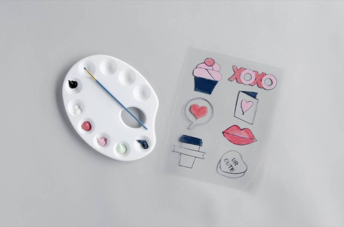 Using shrink paper, you can make your own faux enamel pins!